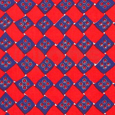 Korgfläta (blå/röd)