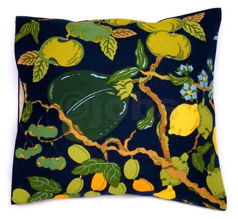 Kuddfodral Fruktträd (mörkblå)