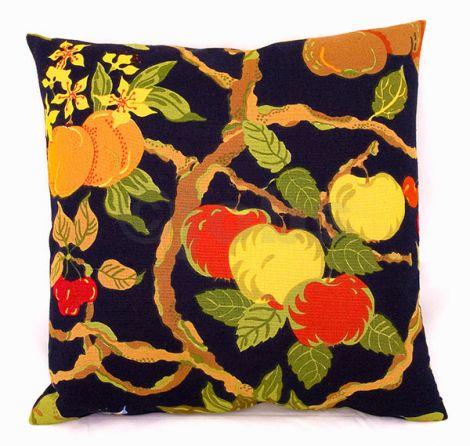 Kuddfodral Fruktträd (svart)