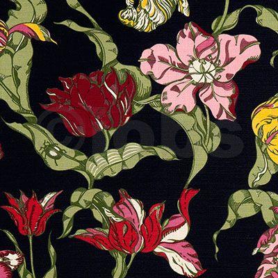 Tulpaner i färg (svart)