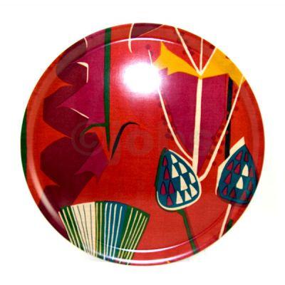 Round tray Tistlar (red)