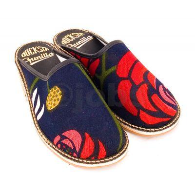 Slippers Folklore (mörkblå)